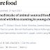 A ingestão sustentada de alimentos de origem animal está associada a menos atrofia em crianças pequenas.
