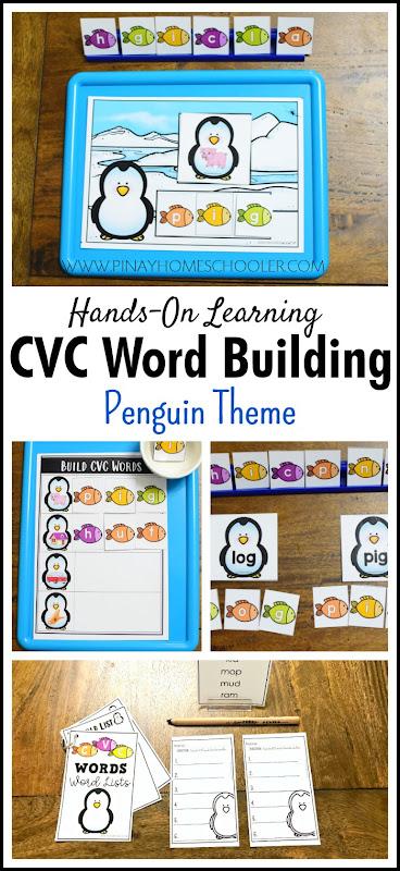 Penguin Theme CVC Word Building PACK