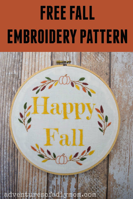 fall embroidery project