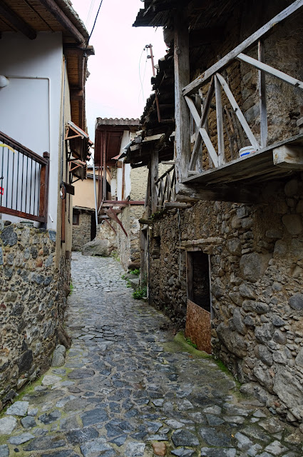 Part of the old traditional village of Kakopetria , in mountain Troodos, Cyprus.