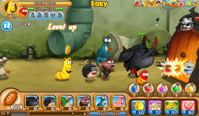 Larva Heroes Episode 2 Mod Apk Data V1.2.3 Unlimited Gold + Candy-screenshot-2