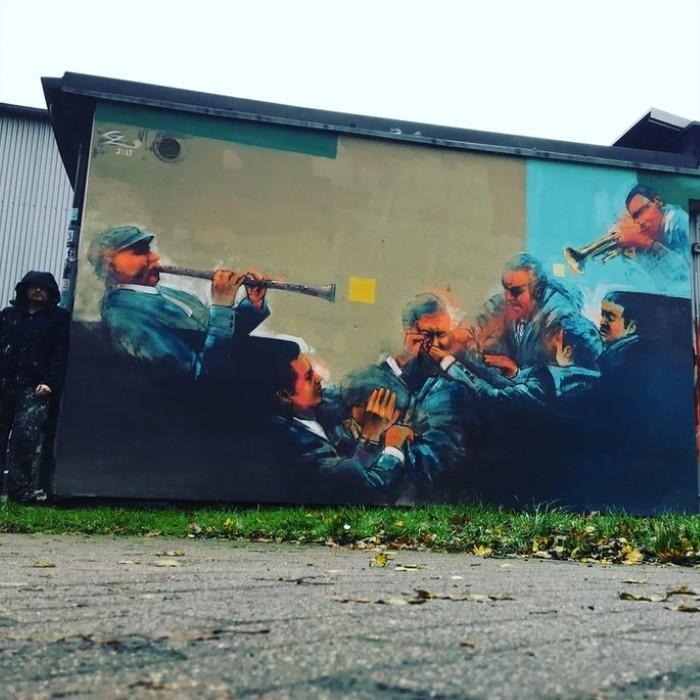 Немецкий уличный художник
