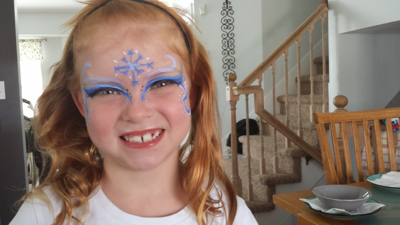 snow witch face paint