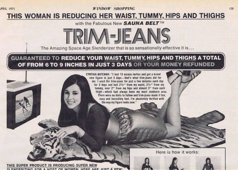 Space Age Slenderizer: Funny Vintage Adverts of Trim-Jeans in the 1970s