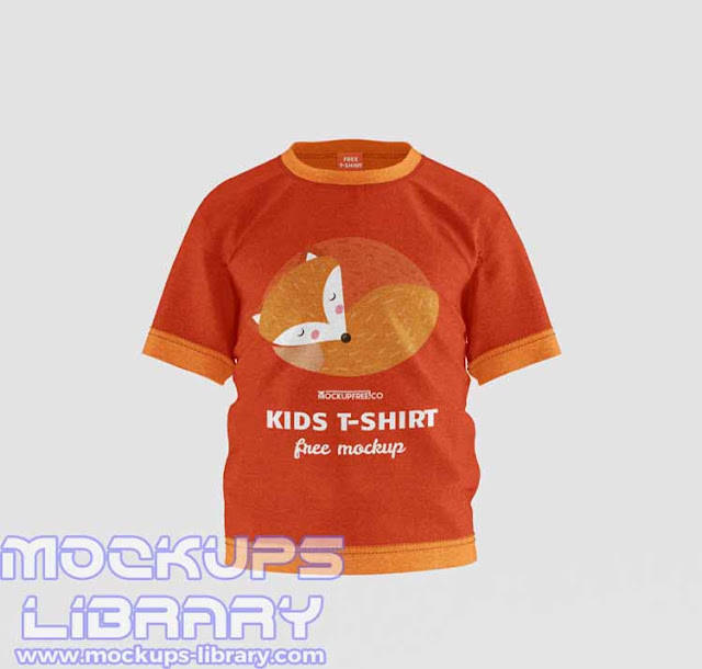 kids t shirt mockup free