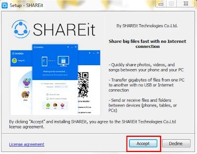 تثبيت برنامج Shareit للكمبيوتر بالصور