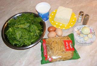 retete cu spanac branza paste ceapa usturoi oua iaurt, retete culinare, ingrediente pentru paste cu spanac la cuptor,