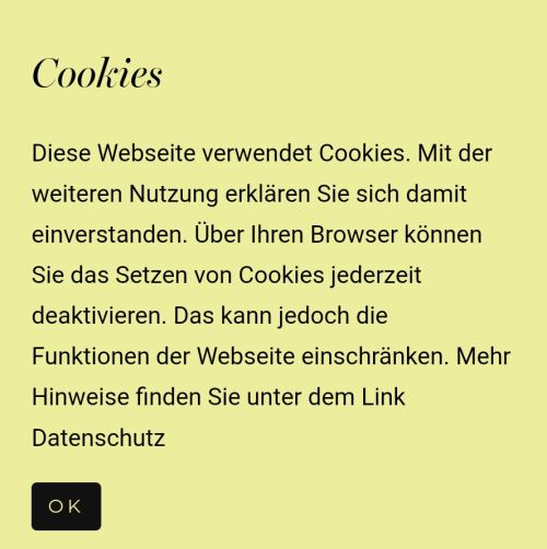 Nicht Cookie-Urteil konformer Word-Press Cookie-Banner