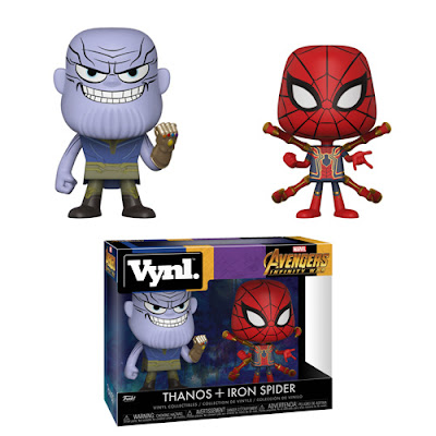 Avengers: Infinity War Thanos & Iron Spider-Man Marvel Vynl 2 Pack by Funko