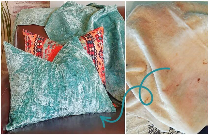 ow to Over-Dye Fabric & Repurposed Vintage Velvet Tablecloths