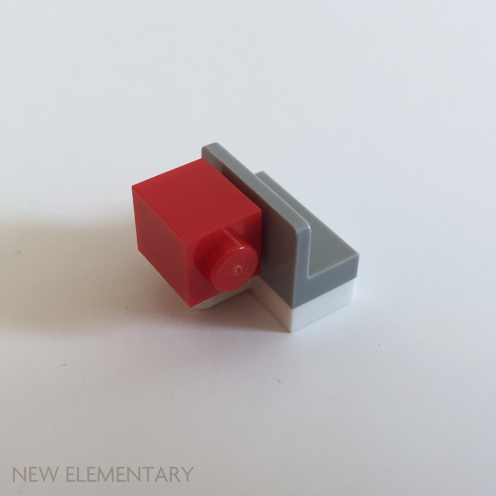 Lego 4 Red 1x2 plate tile with handle NEW