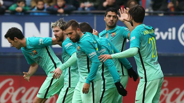Liga Spanyol : Barcelona Benamkan Osasuna 3-0 di El Sadar