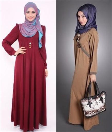 gaun pesta muslim sederhana terbaru 2016/2017