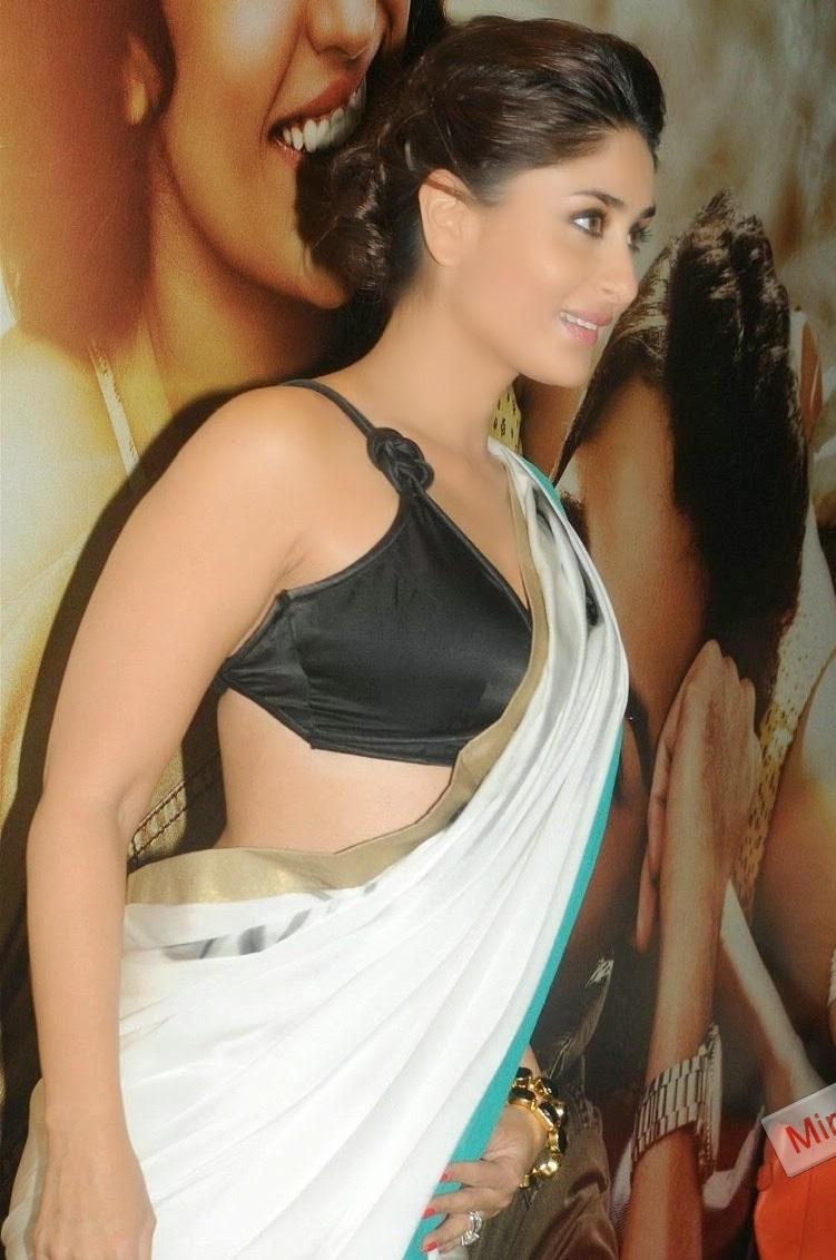 Indian Actress Kareena Kapoor Hot Photos In White Saree -6644