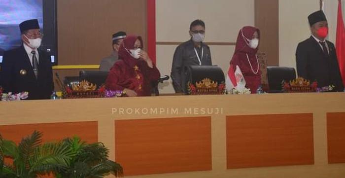 DPRD Mesuji Gelar Rapat Mendengarkan Pidato Presiden Jelang HUT ke-76 RI