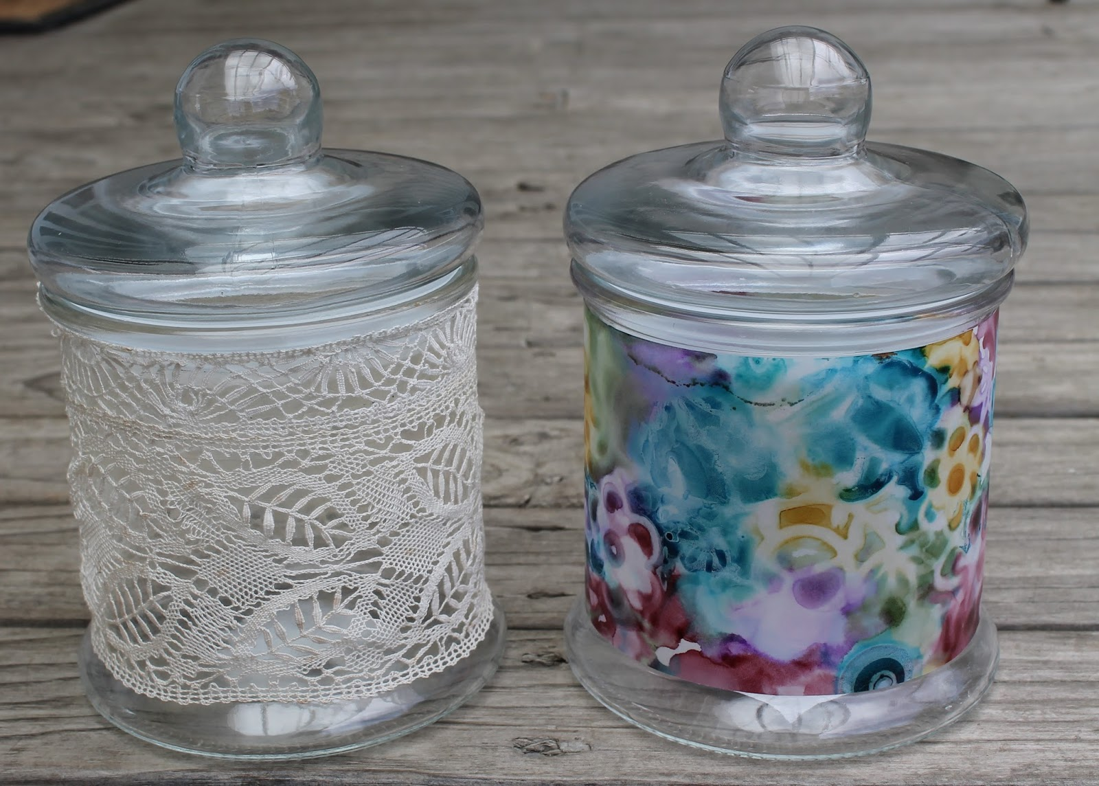 all of me pretty decorated jars