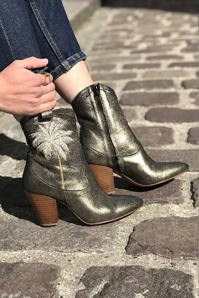 Patricia Blanchet Boots Rose Palmier