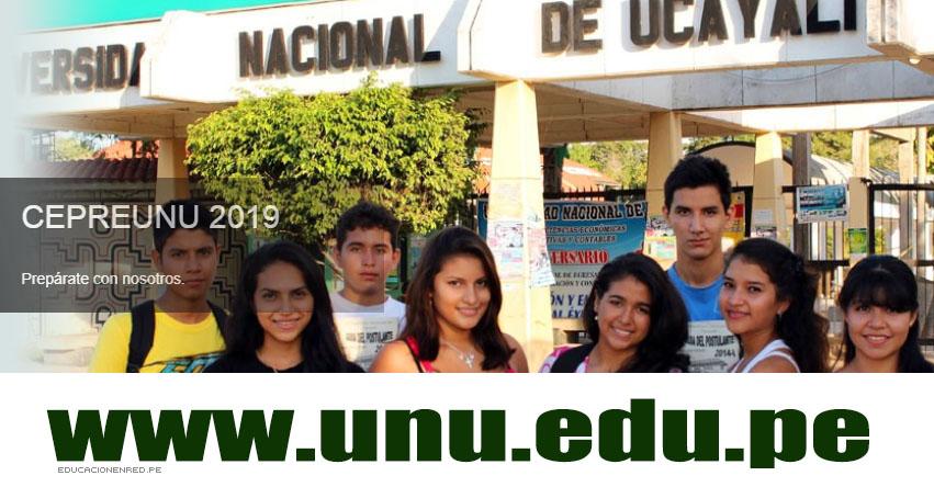 Resultados CEPRE UNU 2019-3 (24 Marzo) Lista de Ingresantes - CEPREUNU Centro Pre Universitario - Universidad Nacional de Ucayali - www.unu.edu.pe