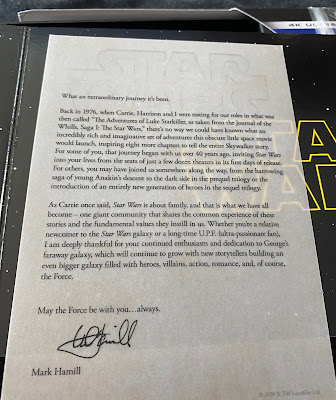 Star Wars Box Set Letter From Mark Hamill
