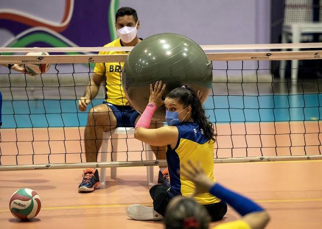 Treinamento em 2018 da seleção feminina de vôlei sentado
