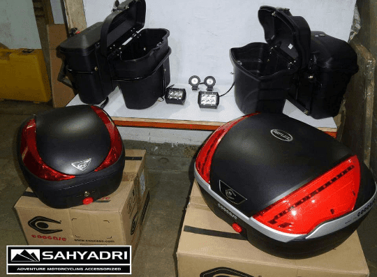 Sahyadri Moto - Luggage Boxes and LED lights