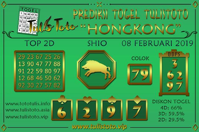 Prediksi Togel HONGKONG TULISTOTO 08 FEBRUARI 2019