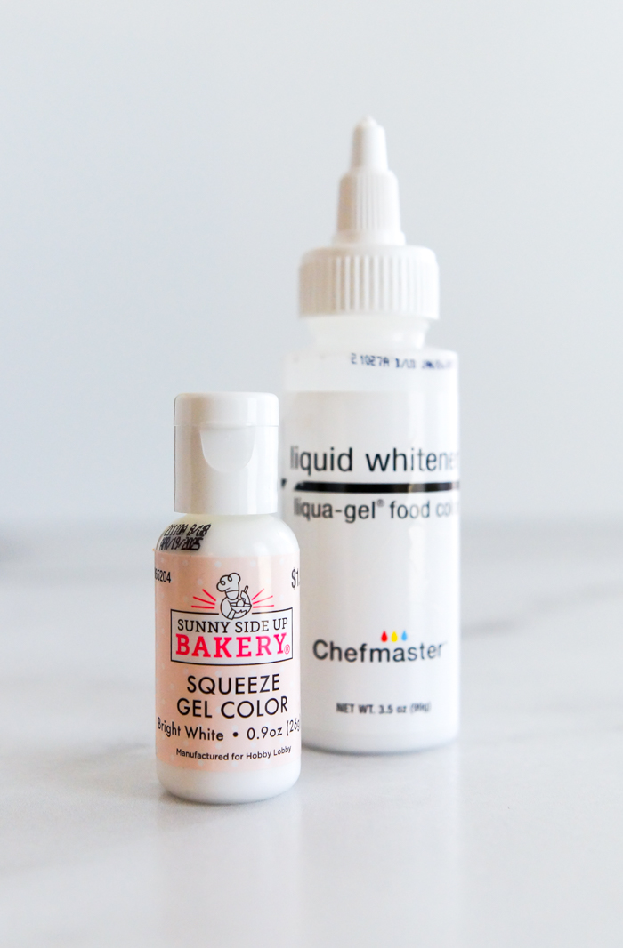 why do I need to use white food coloring?