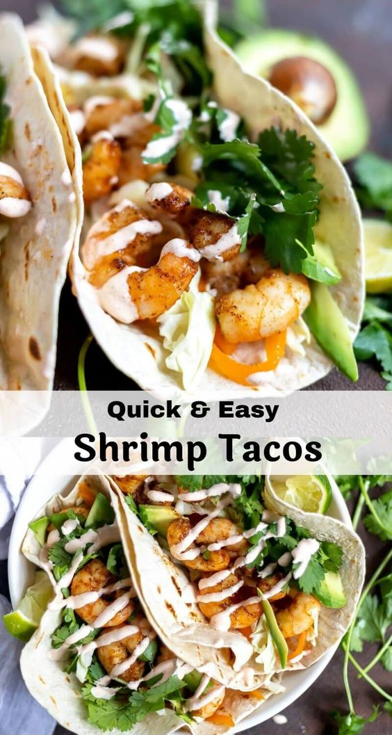 Easy Shrimp Tacos #recipes #dinnerrecipes #quickdinnerrecipes #food #foodporn #healthy #yummy #instafood #foodie #delicious #dinner #breakfast #dessert #lunch #vegan #cake #eatclean #homemade #diet #healthyfood #cleaneating #foodstagram