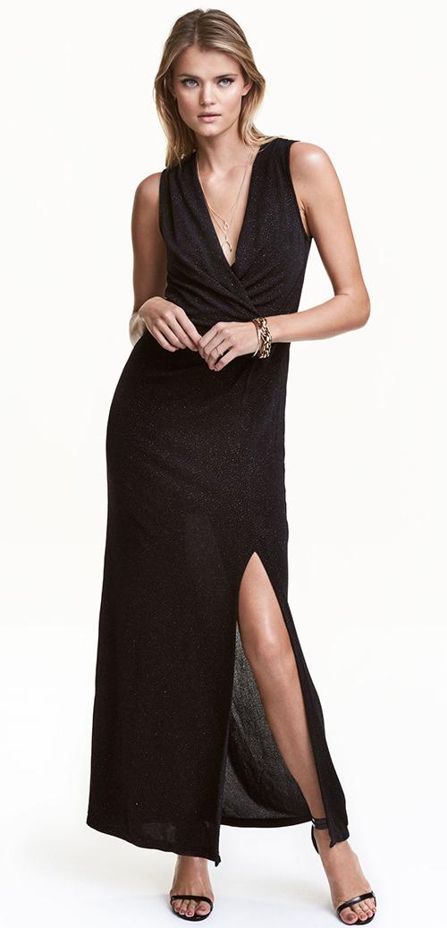Robe longue noire de soirée H&M