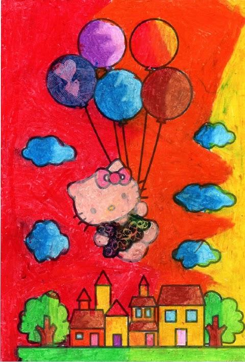 balon terbang diudara