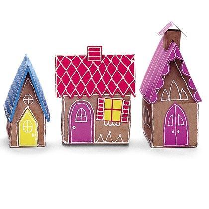 Paper Gingerbread Village