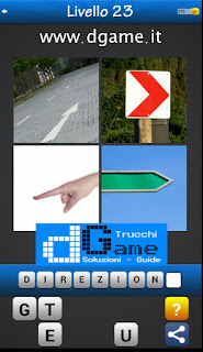 Trova la Parola - Foto Quiz con 4 Immagini e 1 Parola pacchetto 1 soluzione livello 23