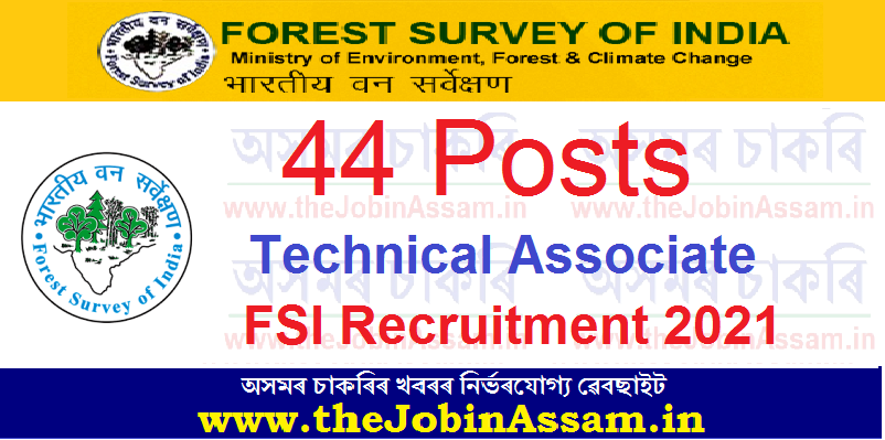 Forest Survey of India (FSI) Recruitment 2021