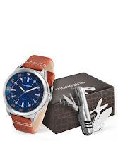 Moda masculina Kit Relógio Masculino Mondaine