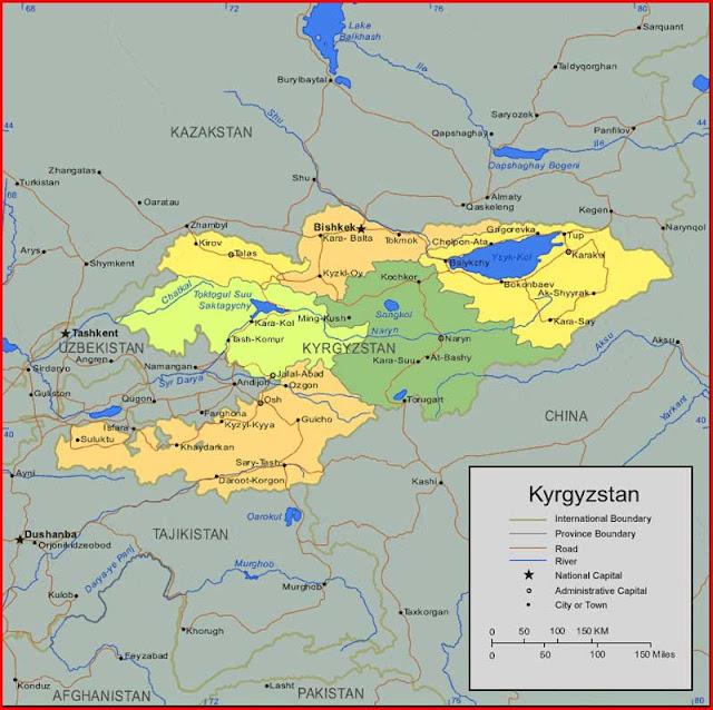 Gambar Peta Kyrgyzstan