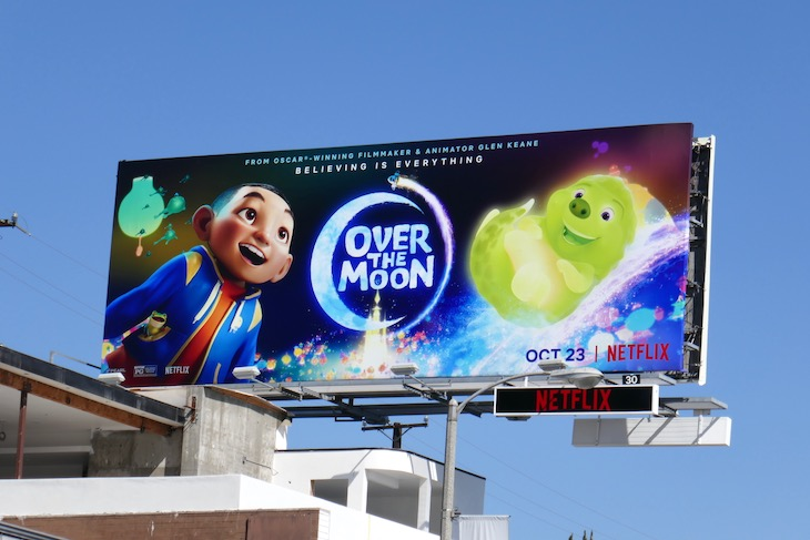 Over the Moon Netflix movie billboard