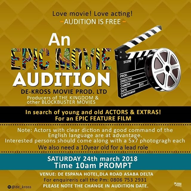 Apic Movie Audition Call