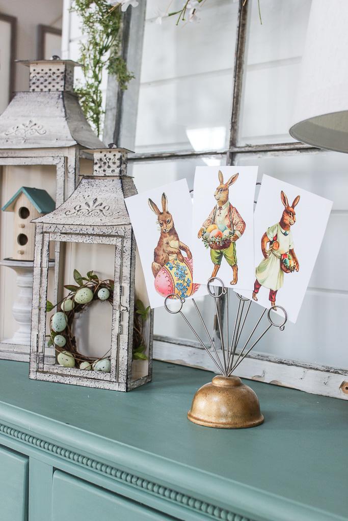 vintage bunny printables