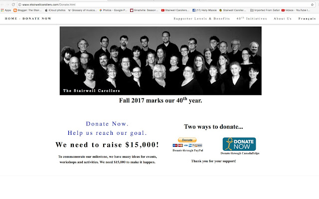 Stairwell Carollers 40th Donation Page