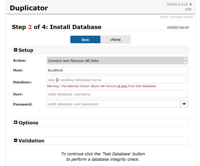 wordpress_duplicator_plugin_install_database