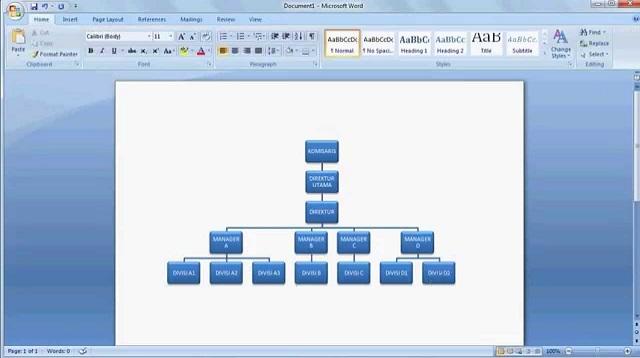 Cara Membuat Diagram di Word