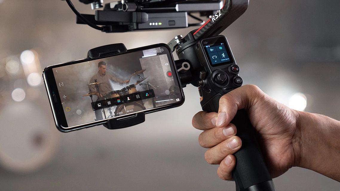 Управление DJI RS 2 со смартфона
