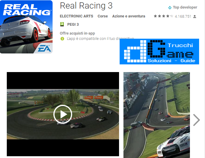 Trucchi  Real Racing 3 Mod Apk Android v5.0.5