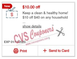 cvs coupon 10 off 40 household