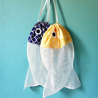refabulous fish laundry bags, pattern by Sew Can She