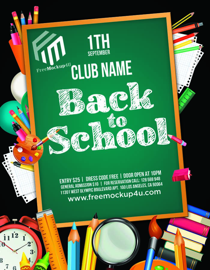 Back To School Flyer Premium PSD Free Download