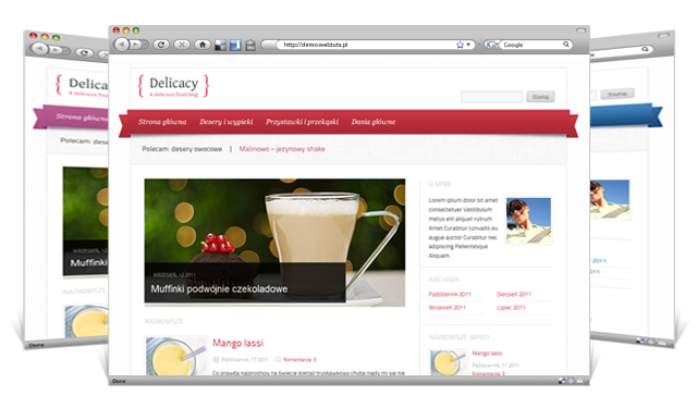 delicacy food blog wordpress theme 2012 30 Ücretli Ücretsiz WordPress Teması