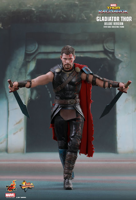 "osw.zone Hot Toys MMS445 1 / 6. Scale ""Thor: Ragnarok"" Gladiator Thor (Deluxe Ver) Collector Figure"