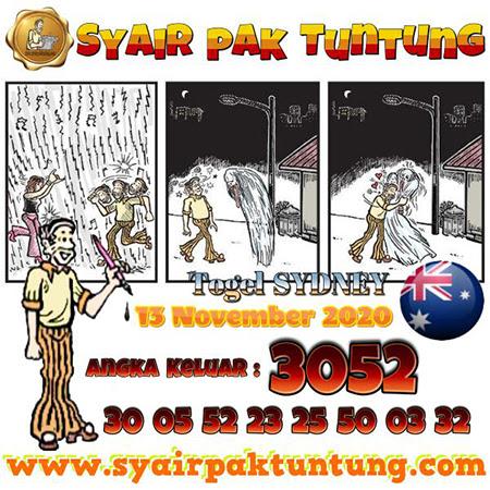Syair Pak Tuntung Sydney Jumat 13 November 2020