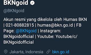 akun twitter resmi badan kepegawaian negara